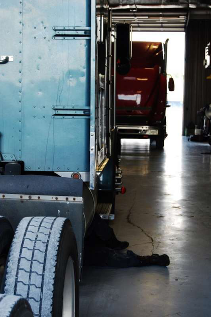 The sizable service bays at the Cookeville Landmark locations can accommodate six tractors comfortably -- the service building was added to the original building when the dealer moved from its former location several years ago.