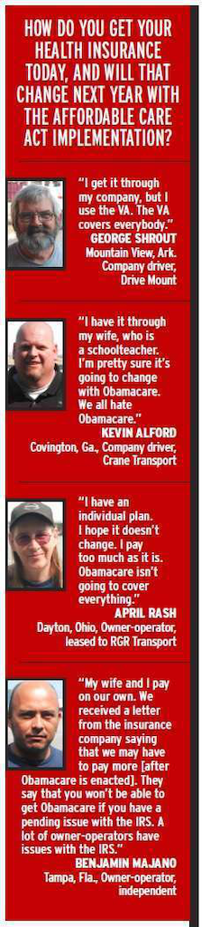 Drivers respond to Obamacare implementation