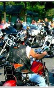 Lyndon Armory on his bike