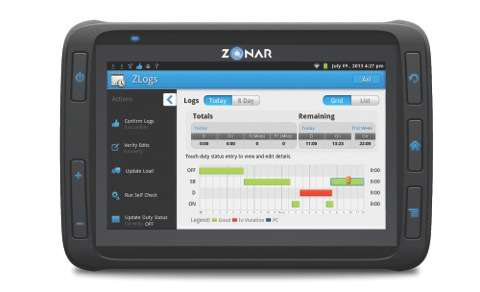 The Detroit Connect tablet comes standard with four trucking-specific apps for navigation, hours of service compliance, inspections and