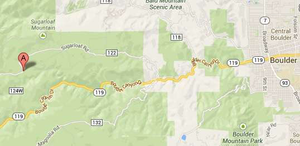 Christner's route to Boulder took the Highway 119 alternate Sugarloaf Rd.