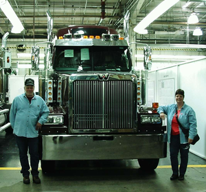 """I'll just take California off my map."" – Owner-operator Bill Taylor, pictured with his wife, Robyn, and their 2007 Western Star"