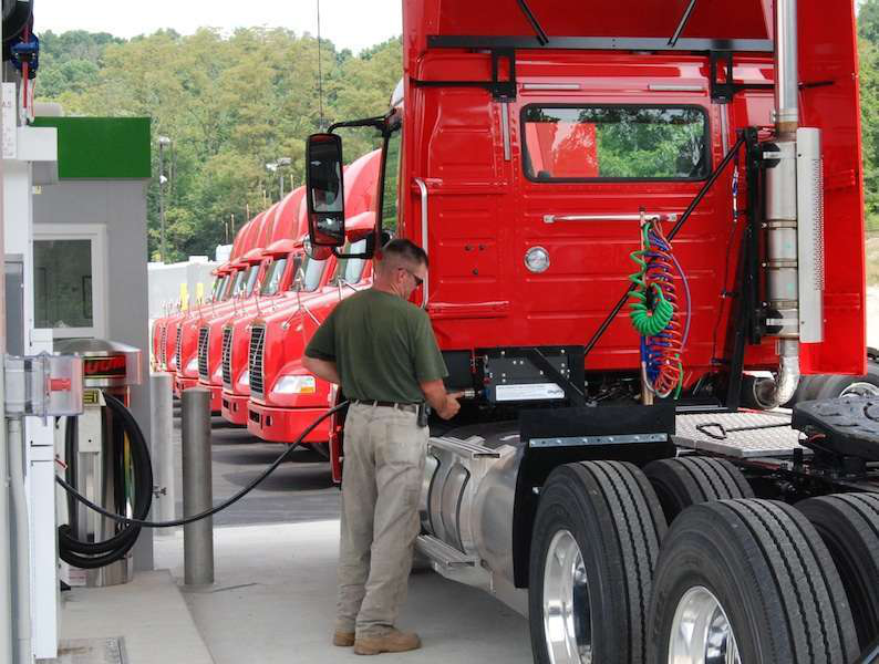 CNG refueling is simple, requiring no protective clothing or special gear.