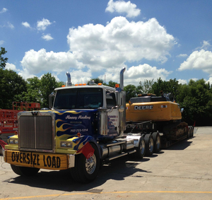 Armory's Tidewater Express heavy hauling Western Star