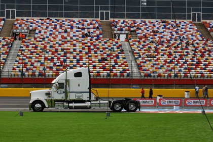 This JHE Productions rig hauled the concert stage to and from the Charlotte Motor Speedway for pre-race activities.