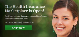 "This image greets visitors to the HealthCare.gov central portal for applications for insurance purchased through the public exchanges mandated by the Affordable Care Act, or ""Obamacare."" Best estimates of the cost of coverage for your particular situations, without going most of the way through the application process, can be found via the Kaiser Family Foundation's costs/subsidy calculator, though only Silver-level plans are estimated there."