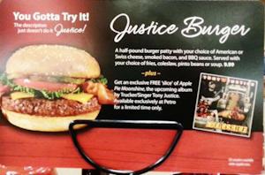 Justice burger insert