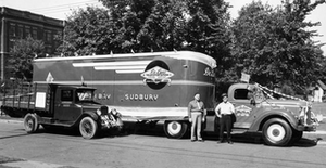 One of the early models  made by Fruehauf Trailer Co.
