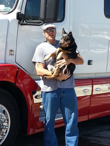 Owner-operator Bryan Spoon (pictured here with his ridealong partner, Diesel) determined he could expect an unsubsidized $275/month premium for a Silver-level insurance plan on the new health insurance exchange. It will be a new fixed cost for the 41-year-old, as he'd run uninsured to date. He got the estimate from the Kaiser Family Foundation's premium/subsidy estimating calculator at kff.org/interactive/subsidy-calculator.
