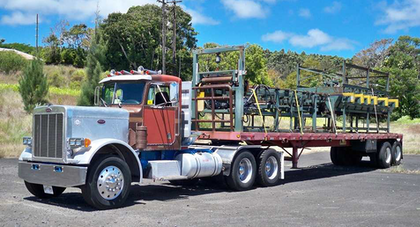 "How about this ""first paying haul"" in what is described as a ""Hawaiian big rig rat rod."" Thanks for the photo, Rick. Over and out..."