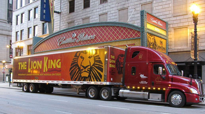 Merch on the prowl: Robert Highsmith sent in this shot of a staged unit outside the Cadillac Palace theater in Chicago.