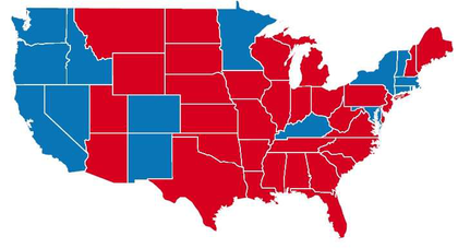 Obamacare state map