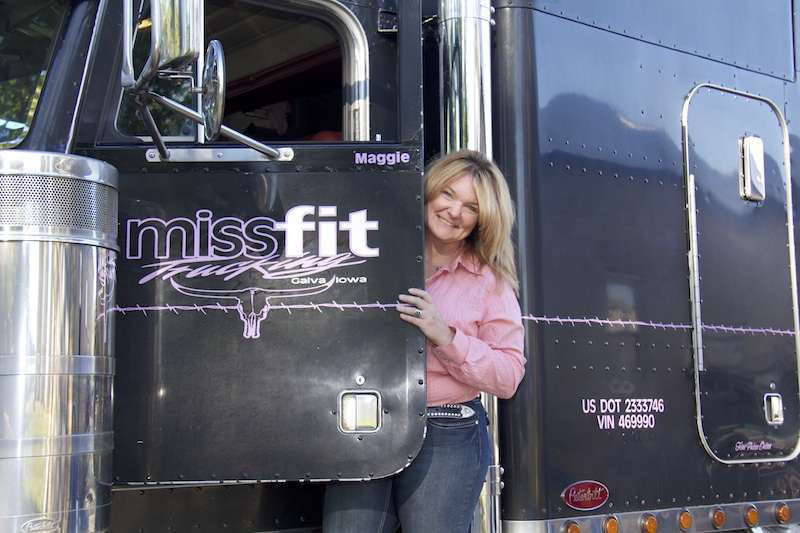 Since purchasing her '99 Pete, Stone has put 1.3 million miles on the rig. The independent livestock hauler won Overdrive's Most Beautiful contest.