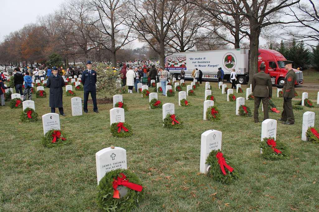 Wreaths on Military Veterans' Graves