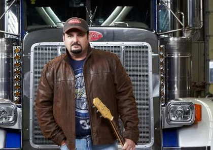 Tony Justice has been trucking about seventeen years, but he's also the opening act for John Anderson at GATS this year. He's produced three country music CD's (tonyjusticemusic.com) and has a large, extremely dedicated fan base in the trucking industry. He's actually kind of a big deal when it comes to country music, he's working with some legends in the industry these days, but when you ask him what he identifies as, he still says he's a trucker.
