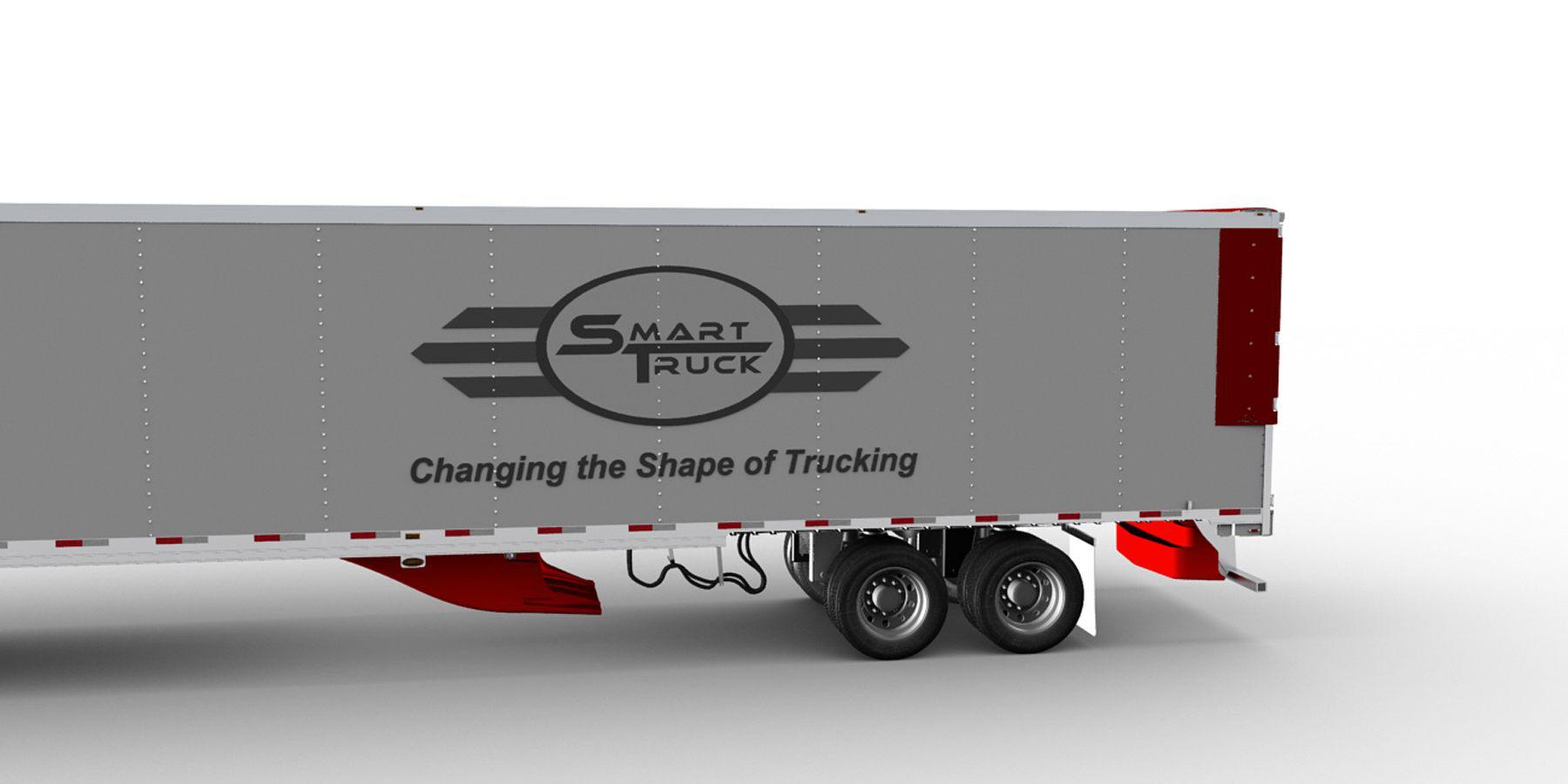 The SmartTrucks UT6-Plus system includes its undertray, a rear air deflector, two fairings on the back of the truck and a roof fairing.