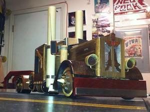 Custom-carved trucks from Alaska seasonal hauler