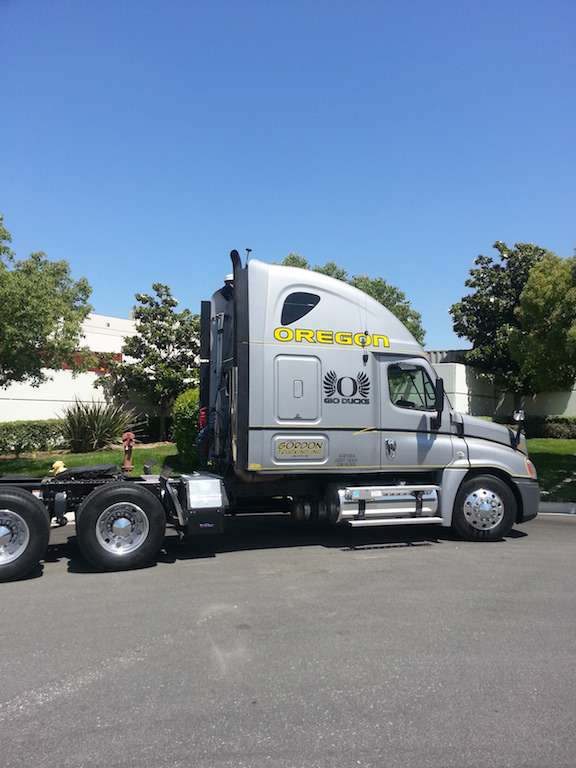 Quack attack: Oregon fan's 2010 Freightliner Cascadia