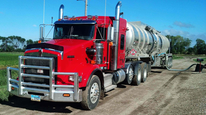 Craig Phenicie here loading crude near Glenburn, Md., KW looking sharp.