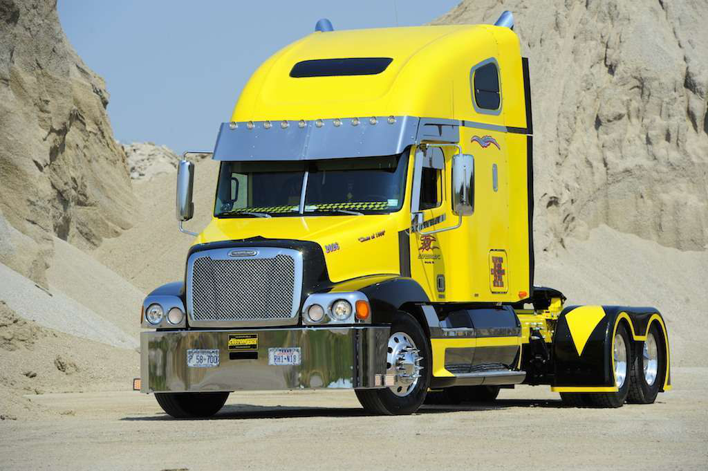 No Excuses: Texas owner-op turns beat up Freightliner into rolling art