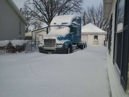"""""""Yep, staying home another day!"""" wrote Toby Heaton when he sent in this picture early in the morning from Mattoon, Ill. """"Temp is -11."""""""