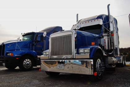 Still rolling: Old Time Express 2001 Freightliner
