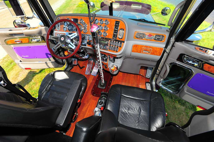 The interior's gauges and switches were chromed, the gear stick extended and the floor decked out in hardwood.