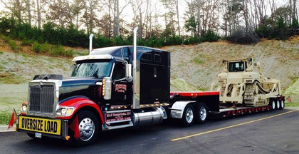 Tony Kretzer of Kretzer Trucking hauled this Cat D7 to Fort Stewart, Ga.