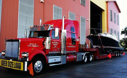Another boat delivery for a client of Bob Bethel of Certified Marine Transport in this 2009 Western Star.