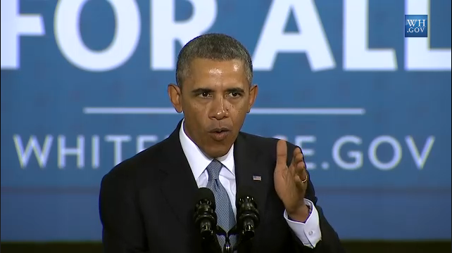 President Barack Obama gave a speech at a SafeWay in Maryland on Monday, where he directed the Department of Transportation and the EPA the next round of fuel standards for Class 8 trucks for post-2018 models.