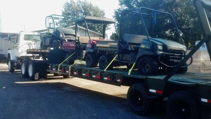 Another day at Sherriff's office in Panama City, Fla.. Sent in by Steve Harbuck, these two loads, originating in parts east and west of Panama City, were delivered to search and rescue operations there.