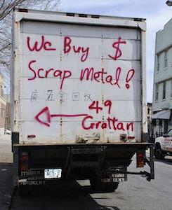 We Buy $ Scrap Metal!