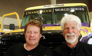 Mike Ryan (left) and John Condren with the ChampTruck prototype the pair brought to Mid-America this year.