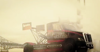 New vid: Mike Ryan jumps stunt Freightliner