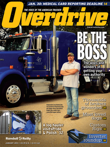 Owner-operator Cody Blankenship and his Kenworth W900 on the January 2014 cover. For more on the hauler, visit this story about the last 2013 blackeyed-pea haul out of a particular Texas acreage Blankenship works.