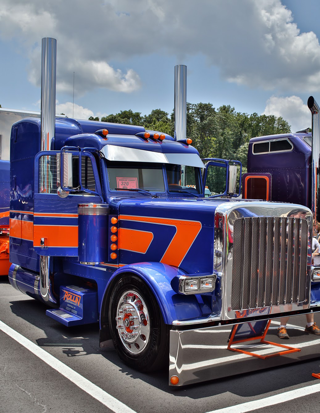 This 2013 Peterbilt 389 and matching 2010 MAC trailer — shown by Vinnio Diorio and Kevin Pascavis in the Wash & Show portion of the event — won Best of Show at last year's 75 Chrome Shop show.