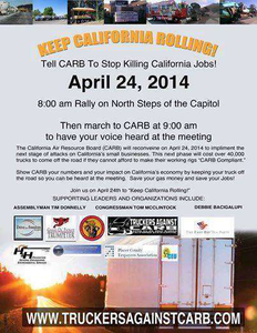 Find more information about Hutnick's effort via the California Truckers Against CARB's Facebook page and website.