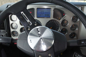 Easy-to-read gauges and a dash-mounted driver information center provided critical information at a quick glance.