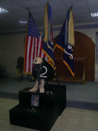 1LT James Lyons memorial in Iraq