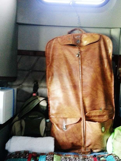 Used, $3 hanging bag for clothing storage