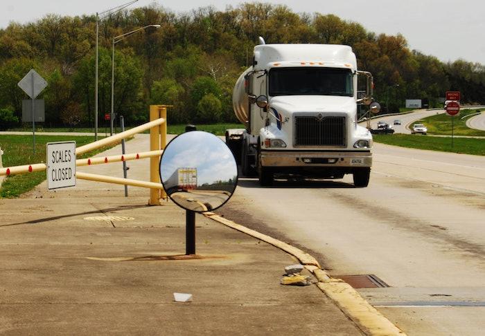 West Harrison, Indiana, weigh station in-bound