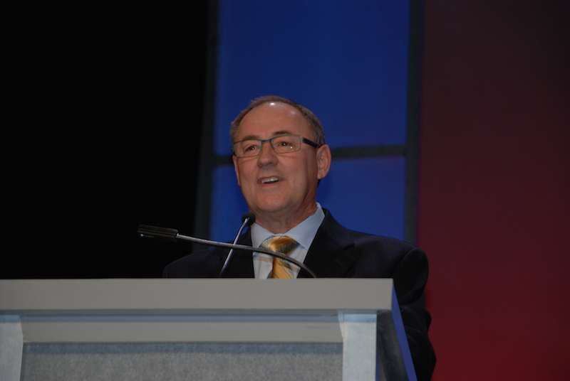 Smith addressed hundreds of TCA members and affiliates when he accepted his award at the group's annual meeting.