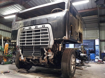 "After the chop, the team lowered the truck nine inches, resisting the urge to air-bag the hot rod. Such trucks ""look great slammed down, but you've got to air it up"" again, ultimately. ""We made this one as low as we could get it"" by trial and error, says Mariani."
