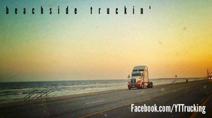 "On a ""vacation from hell"" in Galveston, Texas, ""I saw this truck parked at the beach,"" notes the YTTrucking Facebook page administrator, ""and thought to myself, 'this is what it's all about.' Being able to drive and deliver to coastal locations and take 10 hours to check out the beach is the best."""