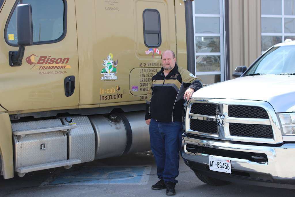 Jack Fielding, the 2013 Company Driver of the Year, received this 2013 Ram 2500, sponsored by Chevron Delo and Cummins, and a year's supply of Delo oil. He drives for Winnipeg, Manitoba-based Bison Transport, which won the company driver division of TCA's 2013 Best Fleets to Drive For contest.