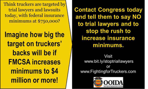 """OOIDA's """"Fighting for Truckers"""" website includes this form facilitating drivers' letters to their Congressional reps."""