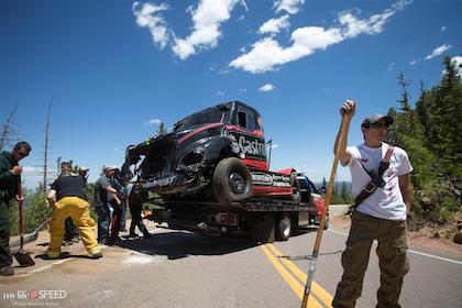 Mike Ryan uninjured after dramatic crash at Pike's Peak