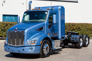 The CNG-powered Peterbilt 579