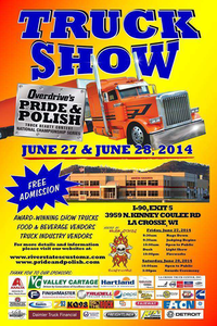 To register to show your truck in the River States Customz edition of Overdrive's Pride & Polish in La Crosse, Wis., follow this link.