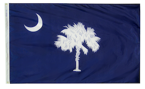 The flag of my native state of South Carolina is among the designs available.